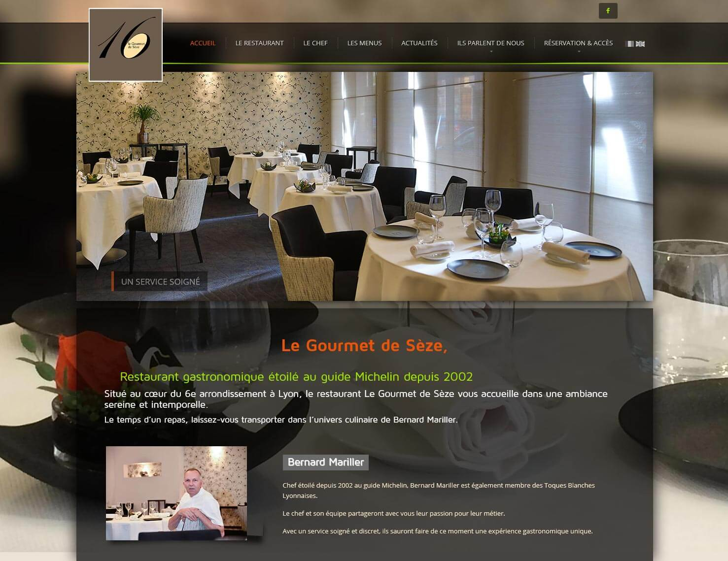 site internet lyon restaurant gourmet de s ze. Black Bedroom Furniture Sets. Home Design Ideas